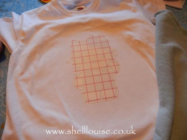 designing t-shirts - after ironing