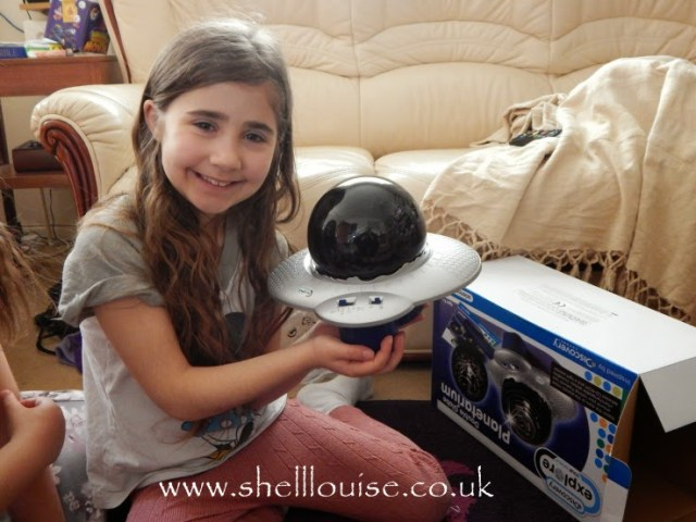Ella with the planetarium