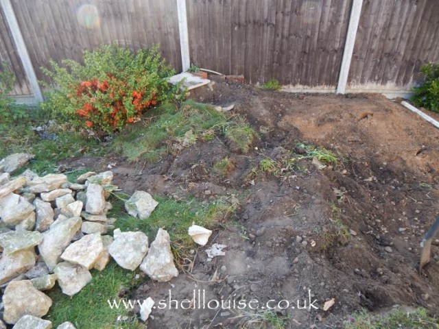Pond being dug out