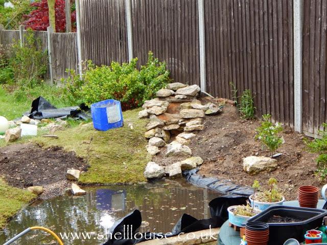 working on the wildlife pond