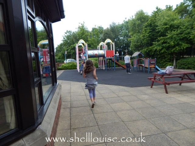 Brewers Fayre Grimsby - Kaycee going to the play area