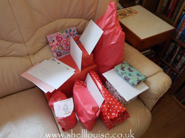 My wrapped birthday presents