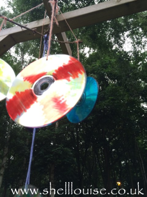 Compact disc garden mobile