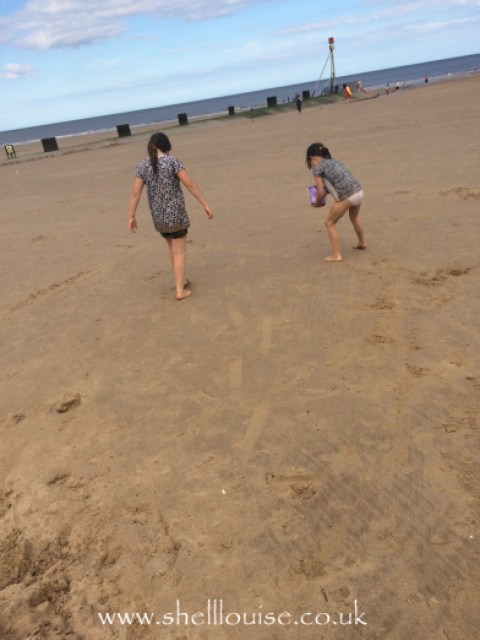 Kaycee and Ella on the beach