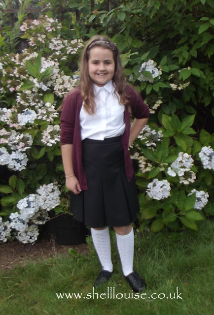 Kaycee before her first day back to school