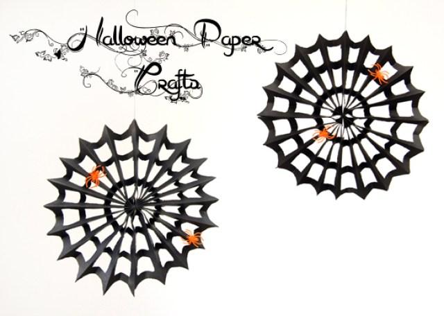 Paper spiderwebs
