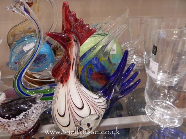 Home Sense - Glass cockerel