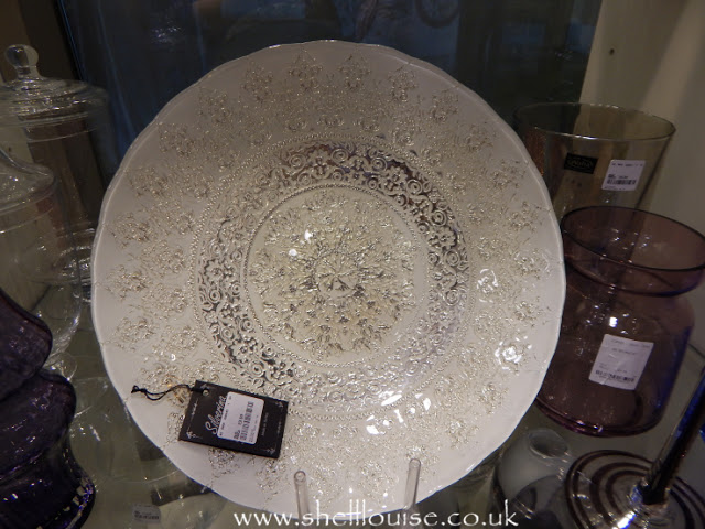Home Sense - White and silver large dish