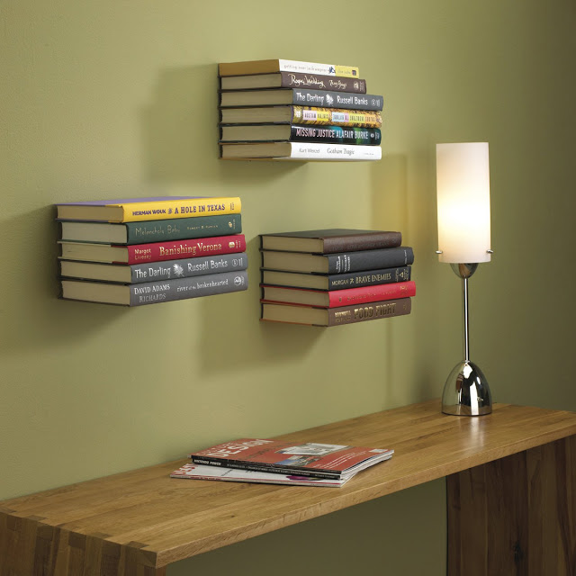 Christmas gift guide - shelves made from books