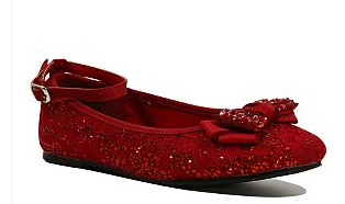 Red sparkly shoes with bow