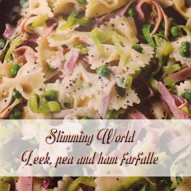 Slimming World leek, pea and ham farfalle recipe
