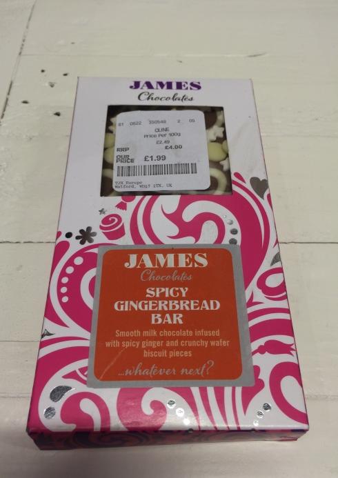 HomeSense spicy ginger chocolate bar
