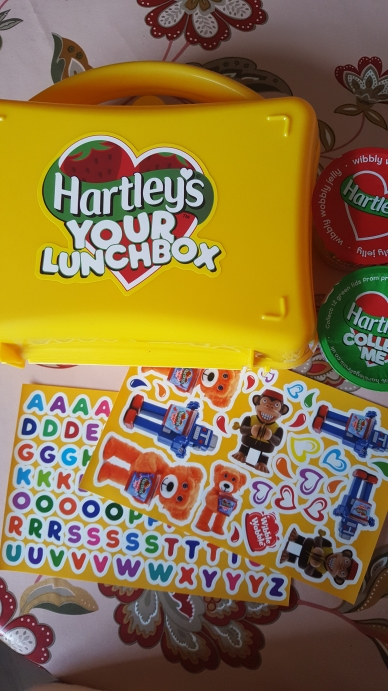Hartley's jelly pots lunchbox