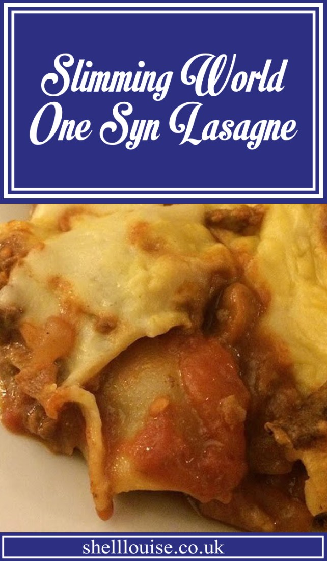 Slimming World One Syn Lasagne