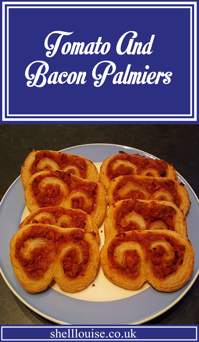 TOmato and Bacon Palmiers