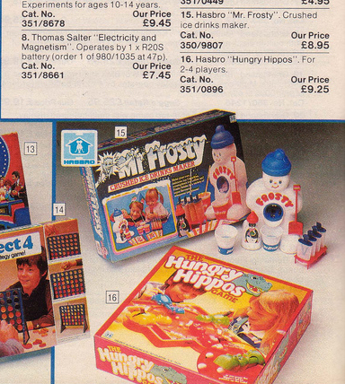Argos catalogue Mr Frosty