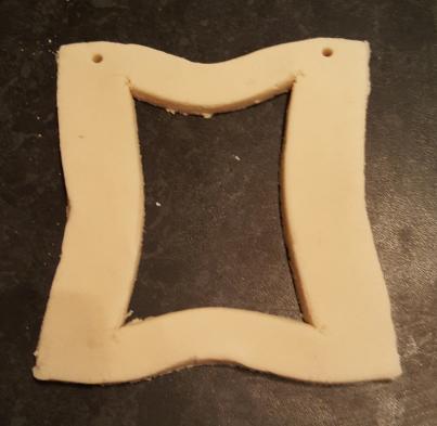 salt dough photo frame