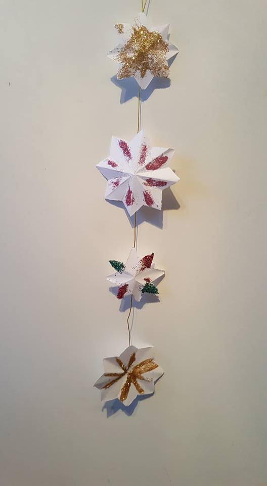 paper star chains - craft ideas