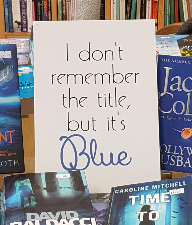 I don't remember the title but it's blue book display