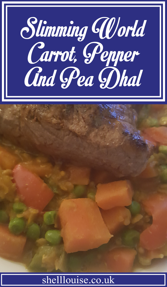 Slimming World Carrot Pepper and Pea Dhal