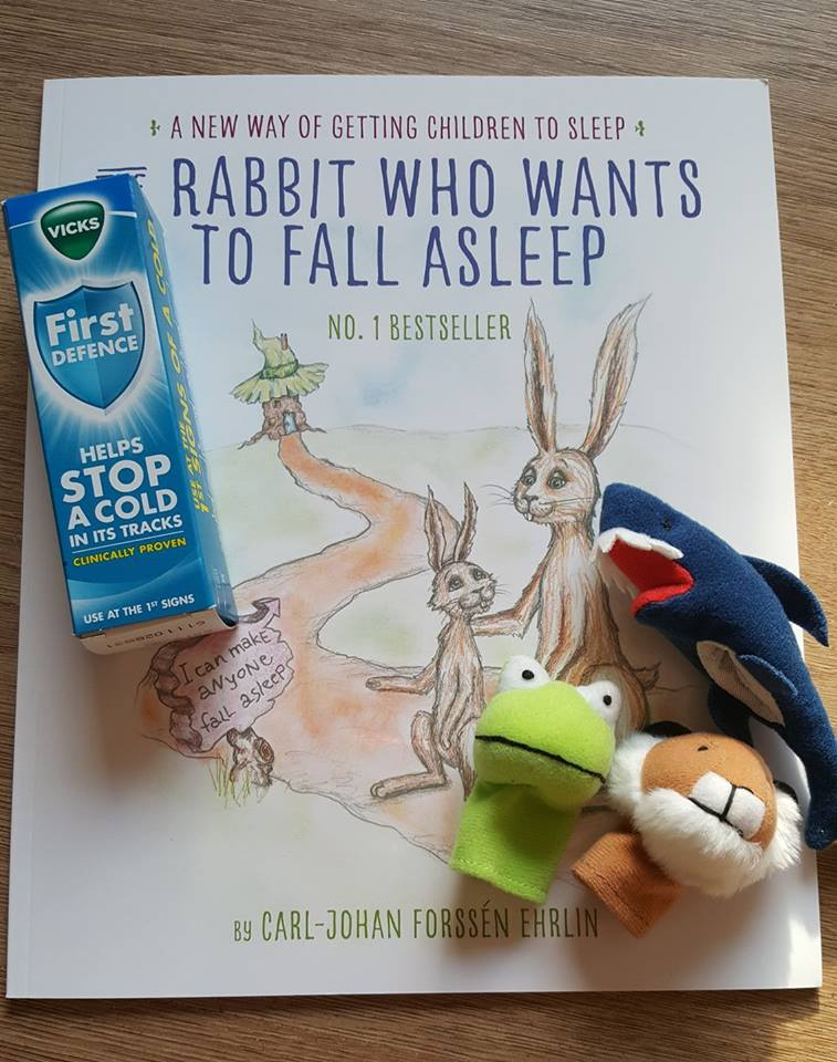 Vick's First Defence, finger puppets and The rabbit who wants to sleep book