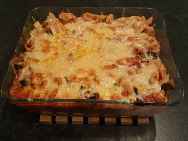 #Dolmio #Thankgoodness chicken and bacon pasta bake with cheese