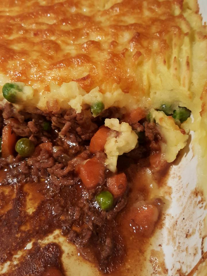Cottage pie for dinner