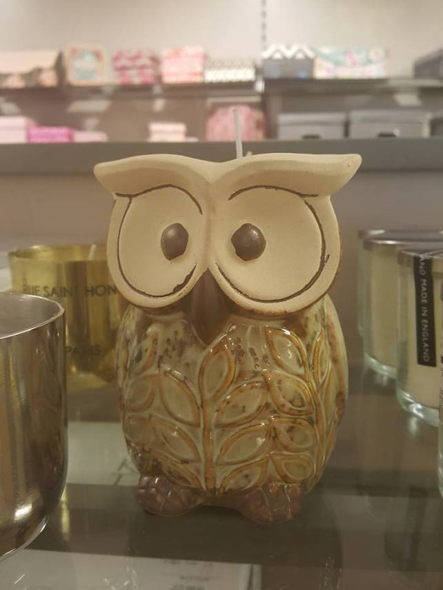 Mother's Day at HomeSense Owl Candle