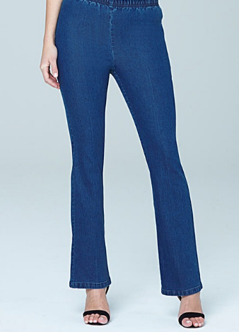 pull on boot cut jeggings Simply Be