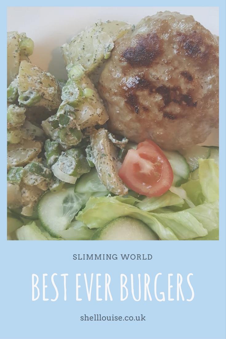 best ever Slimming World burgers