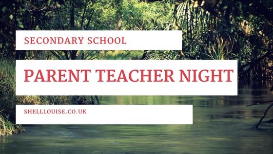 secondary school parent teacher night