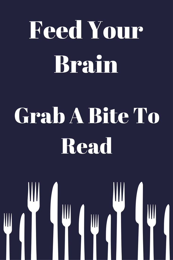 Feed your brain, grab a bite to read - Book Display Posters