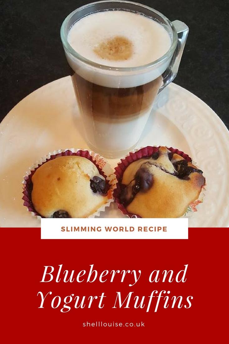 Blueberry and yogurt muffins