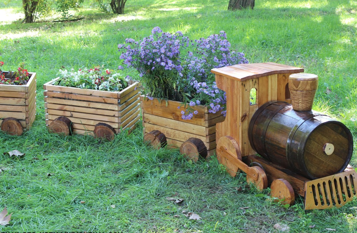 train planter making your garden sustainable