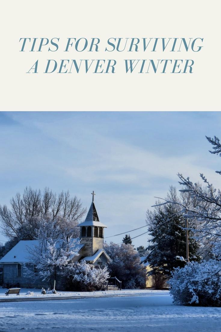 tips for surving a Denver winter