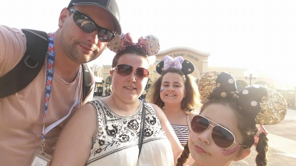 Ian, Kellyann, Kaycee and Ella - Disneyland Paris Photos