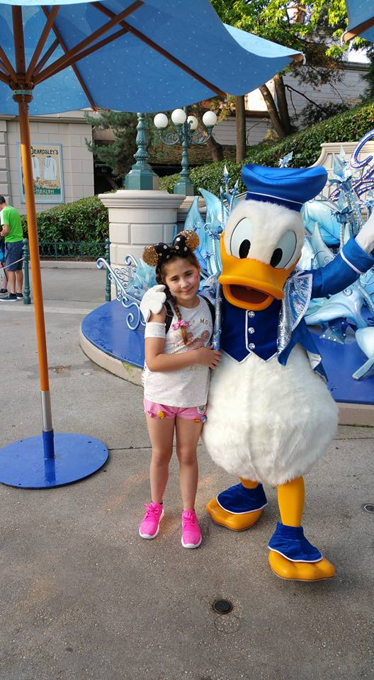 Ella with Donald Duck - Disneyland Paris Photos