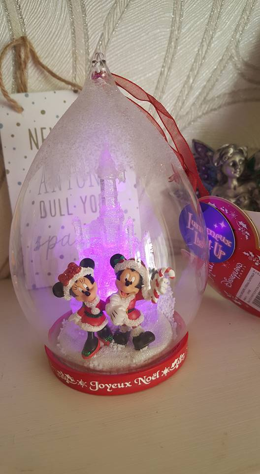 Minnie and Mickey Christmas Tree Ornament - Disneyland Paris Photos