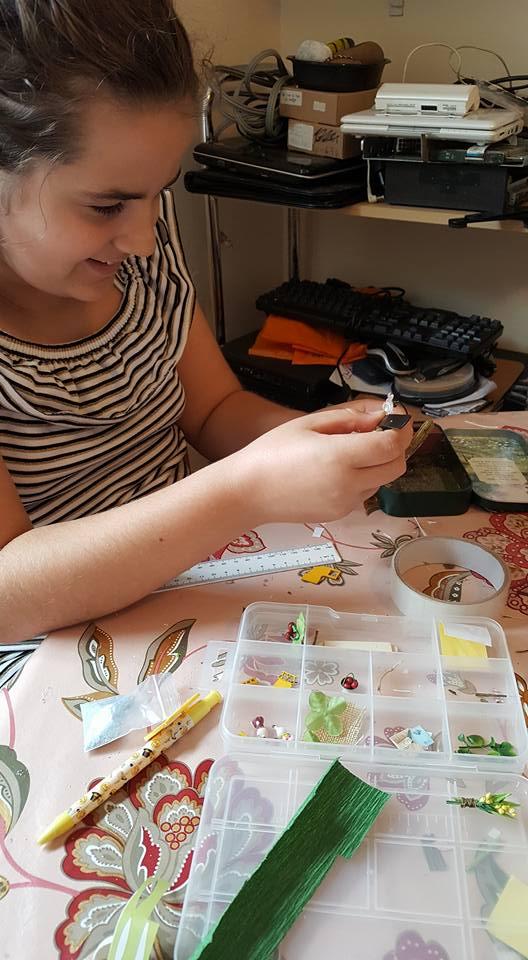 Kaycee making Forest Rhapsody - miniature craft kits