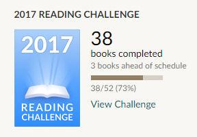 Goodreads reading challenge 2017 38 books read