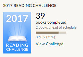 Goodreads reading challenge 2017 39 books read