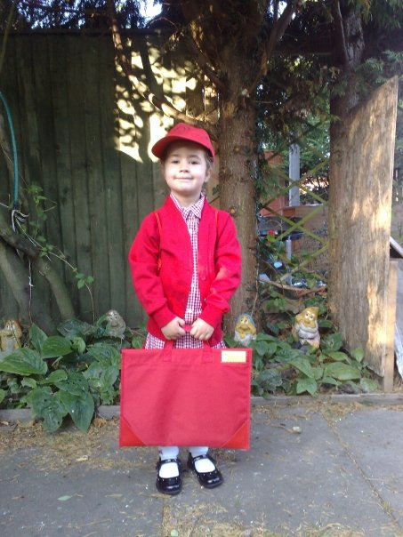 Kaycee first day at infants school