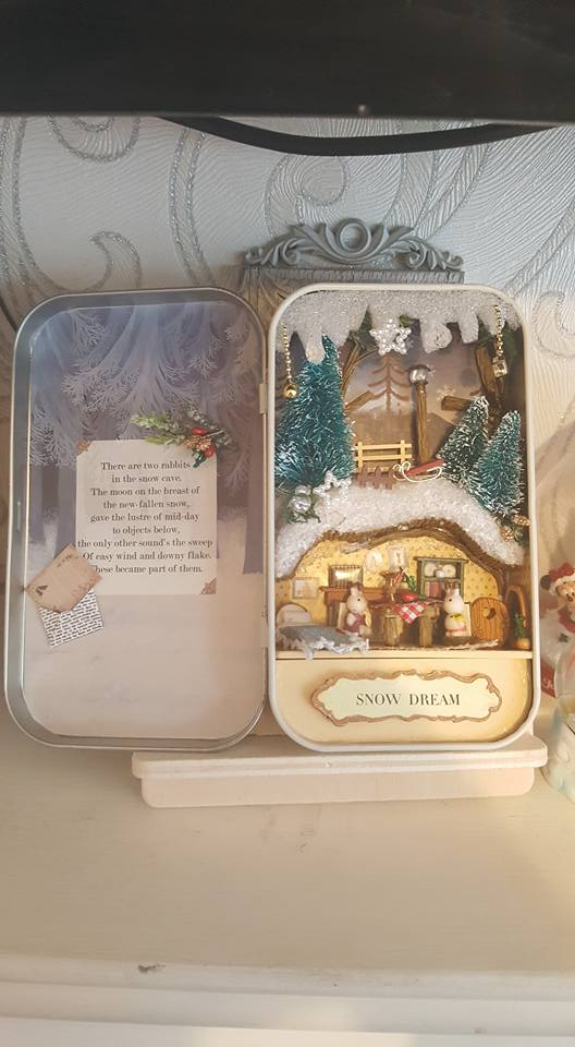 Snow Dream box theatre miniature craft kit