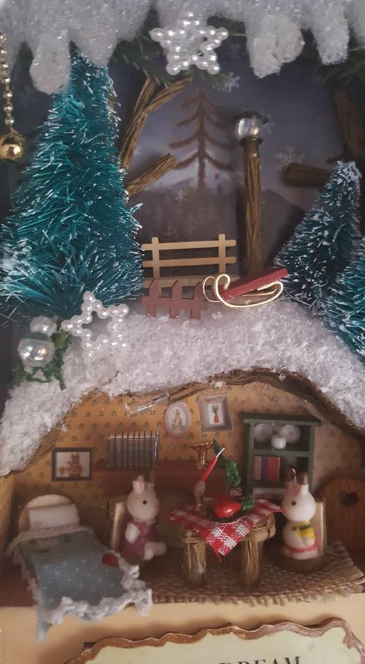 Snow Dream box theatre miniature craft kit