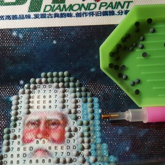 Started my diamond painting kit - October 1 day 12 pics