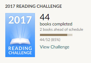 Goodreads reading challenge 2017 44 books read