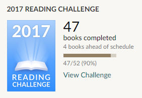 Goodreads reading challenge 2017 47 books read