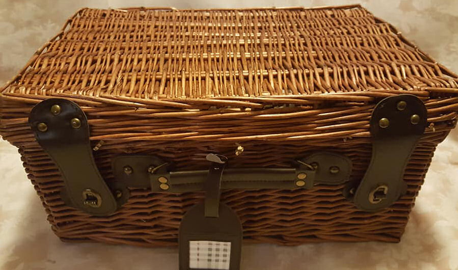 Wicker basket from Prestige Hampers Luxury Christmas hampers