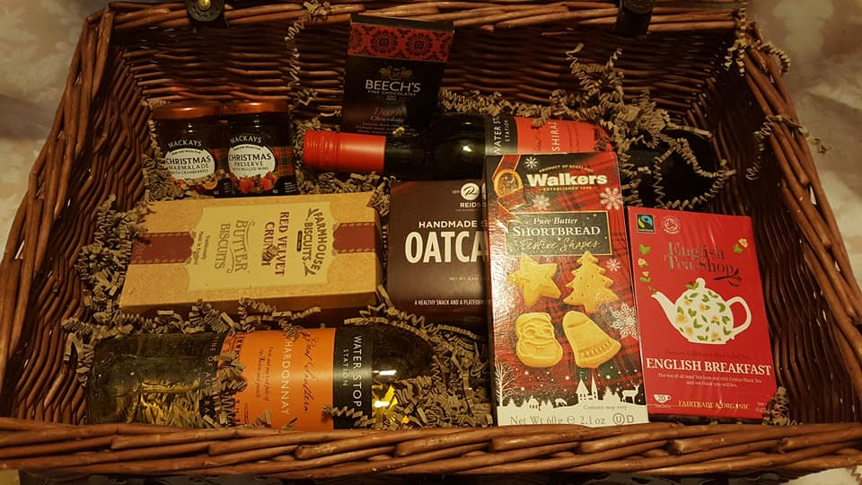 Second layer of the Prestige Hampers luxury Christmas hamper