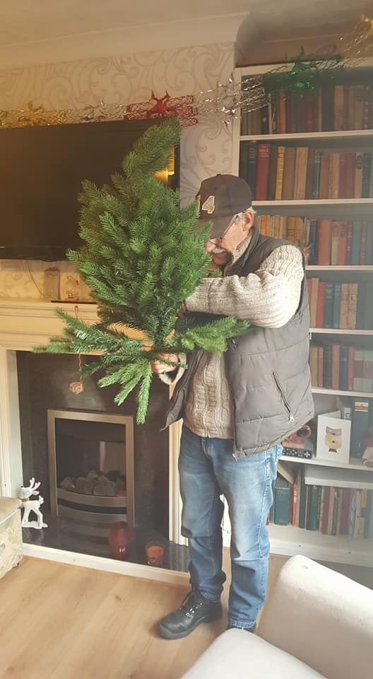Christmas decorations - putting the tree up